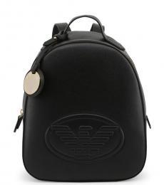 Black Logo Medium Backpack