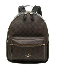 Black Charlie Medium Backpack