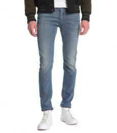 Diesel Blue Sleenker Distressed Skinny Jeans