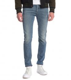 Diesel Blue Sleenker Distressed Skinny Jeans