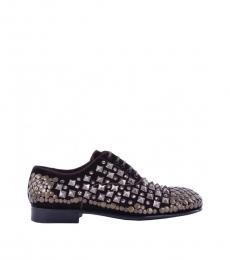 Dolce & Gabbana Dark Brown Runway Studded Lace Ups