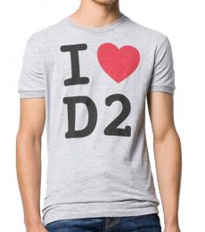 Dsquared2 Grey Cotton Logo T-Shirt