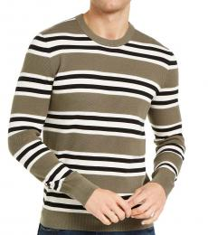 Sage Green Sashan Striped Sweater