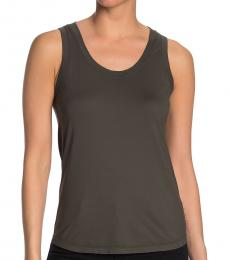 Ash Green Cambria Fitted Tank Top