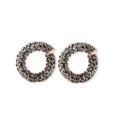 Michael Kors Rose Gold Pave Twist Huggie Earrings