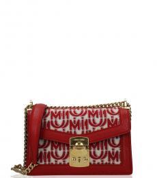 Miu Miu Red Signature Small Shoulder Bag