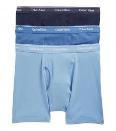Calvin Klein Blue 3-Pack Classic Boxer Briefs