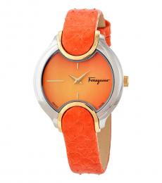 Salvatore Ferragamo Orange Signature Watch