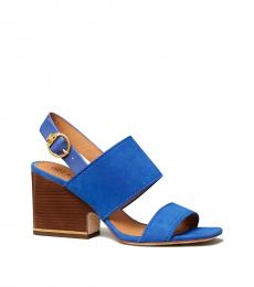 Tory Burch Nautical Blue Selby Block Heels