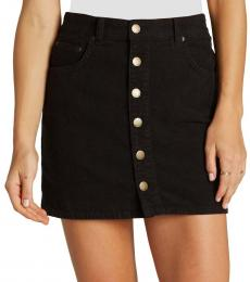 Billabong Black Corduroy Mini Skirt