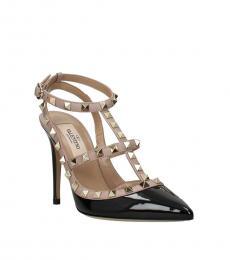 Valentino Garavani Black Rockstud Patent Heels