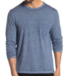 Lucky Brand Blue Pocket Long Sleeve T-Shirt
