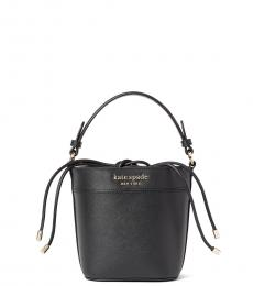 Kate Spade Black Cameron Monotone Mini Bucket Bag