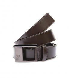 Versace Collection Brown Medusa Logo Belt