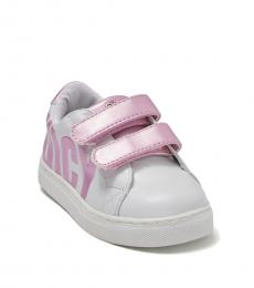 Juicy Couture Baby Girls White Pink Modesto Sneakers