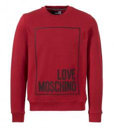 Love Moschino Maroon Graphic Logo Sweatshirt