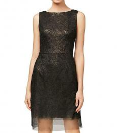 Betsey Johnson Black Embroidered Sheath Party Dress