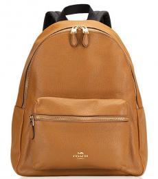 Coach Light Saddle Charlie Large Backpack