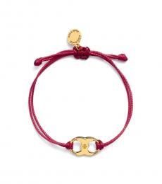 Tory Burch Burgundy Embrace Ambition Bracelet