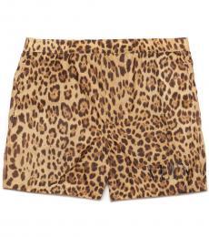 Valentino Garavani Brown Animalier Swimwear