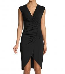 Roberto Cavalli Nero Ruched Tulip Bodycon Dress