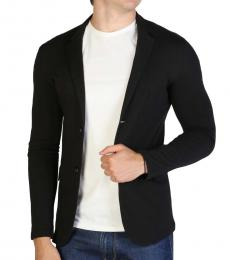 Armani Jeans Black Slim Fit Blazer