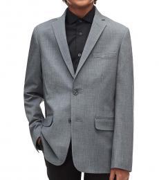 Calvin Klein Boys Grey Infinite Stretch Suit Jacket