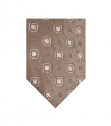 Armani Collezioni Goldish Brown Geometric Tie