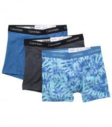 Calvin Klein Blue Pack of 3 Boxer Briefs