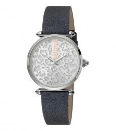 Just Cavalli Grey Silver Dial Watch