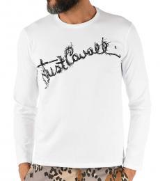 Just Cavalli White Long Sleeve T-Shirt