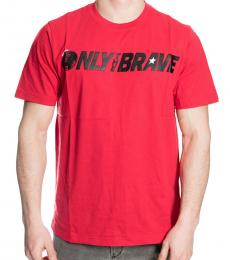 Diesel Red Graphic Logo T-Shirt
