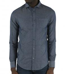 Armani Jeans Blue Breast Pocket Shirt
