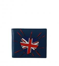 Dolce & Gabbana Blue Bifold Wallet