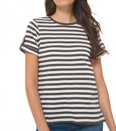 Michael Kors Ivy Striped Roll-Sleeve Shirt