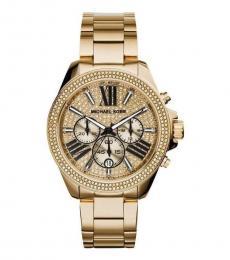 Michael Kors Gold Chronograph Crystal Watch