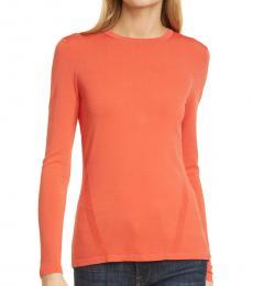 Diane Von Furstenberg Paprika Milano Crew Neck Sweater