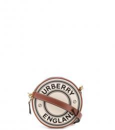 Burberry Beige Round Louise Mini Crossbody Bag
