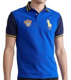 Ralph Lauren Royal Blue Classic Fit Crest Logo Polo