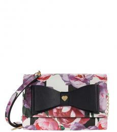 Betsey Johnson Multicolor Dani Floral Small Crossbody Bag
