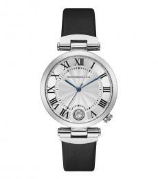 BCBGMaxazria Black Genuine Silver Dial Watch