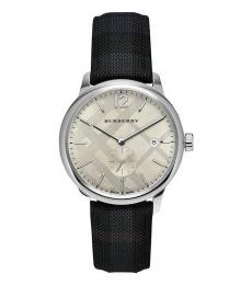 Burberry Grey Classic Round Checked Watch
