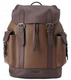 Coach Brown Hudson Large Backpack