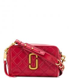 Marc Jacobs Red Quilted Softshot Small Crossbody Bag