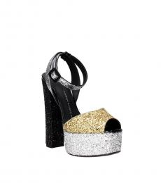 Gold Silver Glitter Pumps