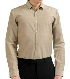 Brown Extra Slim Fit Linen Shirt