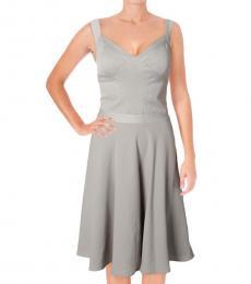 Ralph Lauren Grey Frog Idelle Bridesmaid Dress