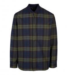 Multi Color Checkered Logo Jacket