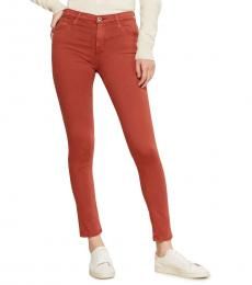 AG Adriano Goldschmied Rust Farrah High-Rise Skinny Pants