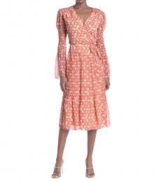 Light Pink Wrap Midi Dress